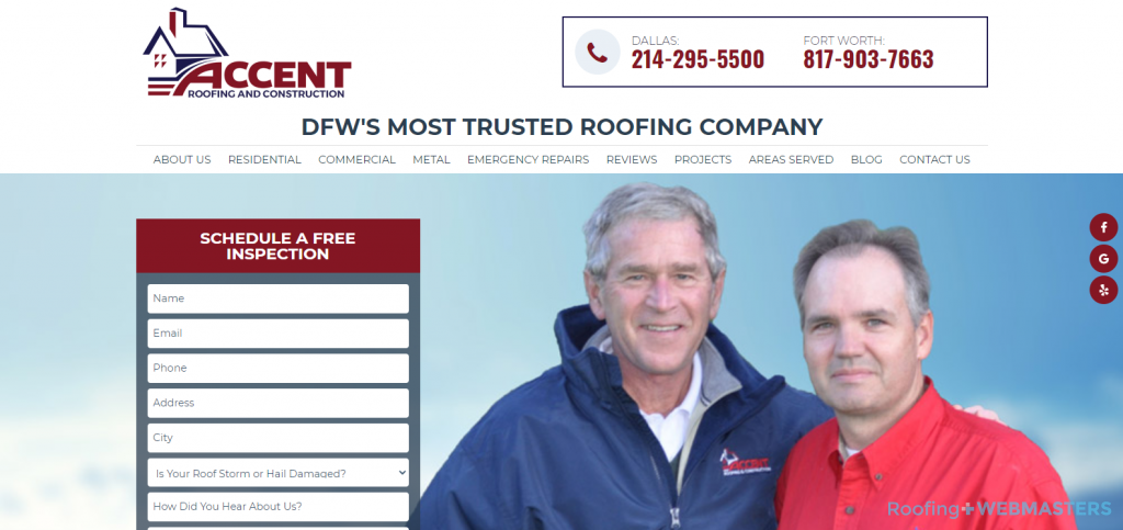 Accent Roofing Website