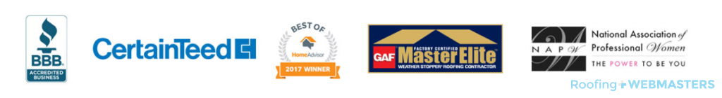 Badges on Roofing Homepage
