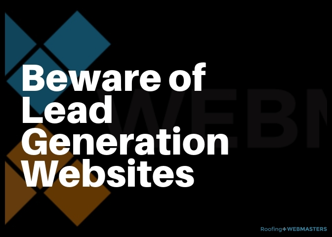 Beware of Lead Generation Websites Graphic