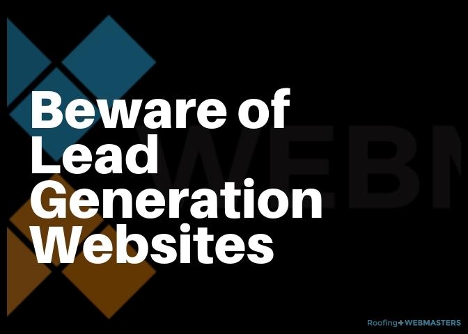 Beware of Lead Generation Websites Graphic