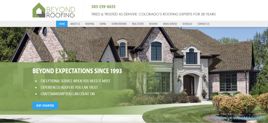 Beyond Roofing Website