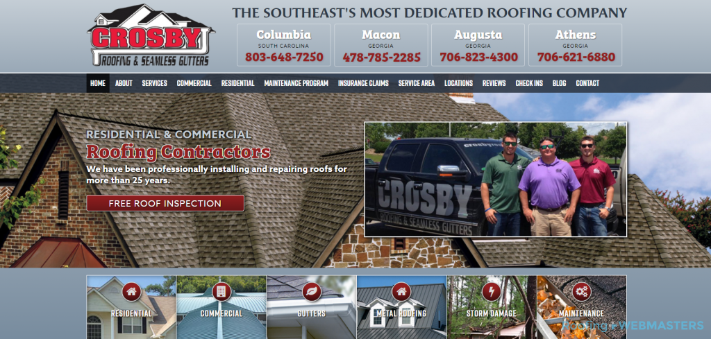 Crosby Roofing Website