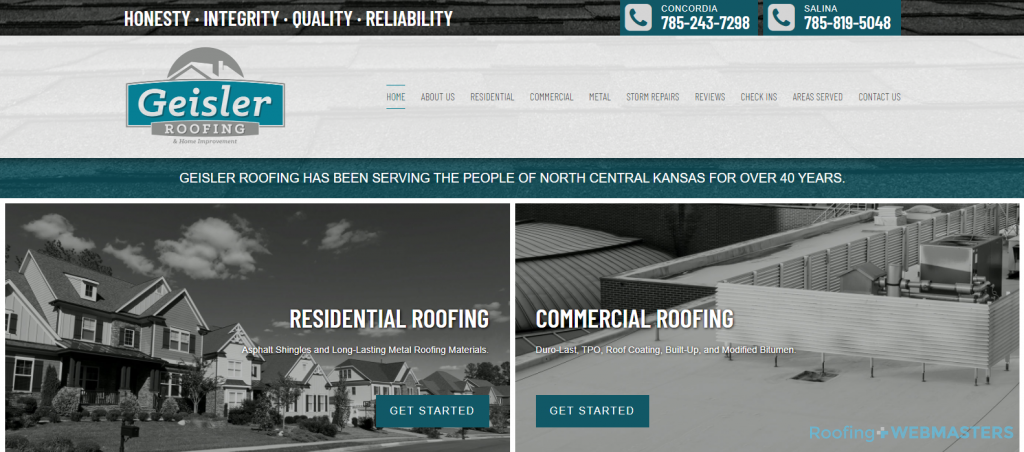 Geisler Roofing Website