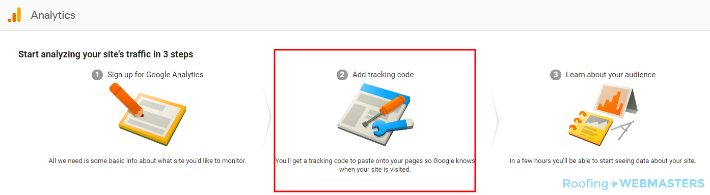 Google Analytics Tracking Screenshot