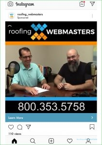 Roofing Webmasters PPC Instagram Ad