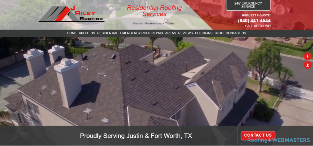 J Riley Roofing Website