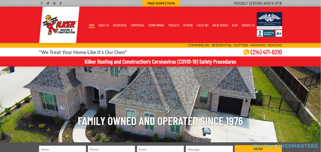 Kilker Roofing Website