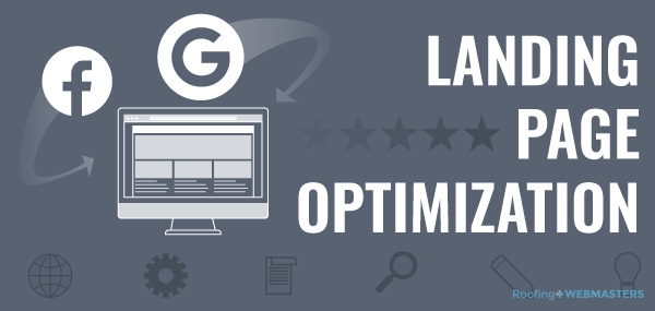 Social Media Advertising and Landing Page Optimization Graphic