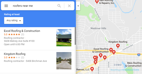 An Example of a Google Maps Search