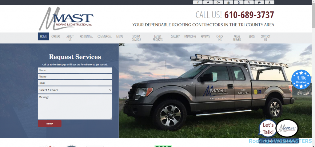 Mast Roofing Website
