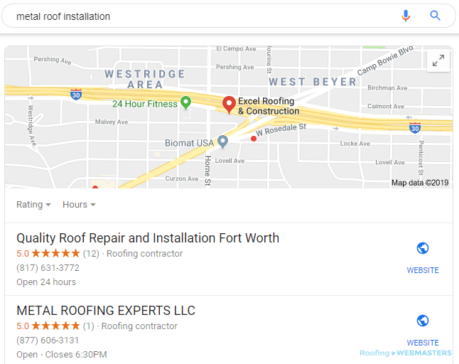 A Local Search for Metal Roof Installation