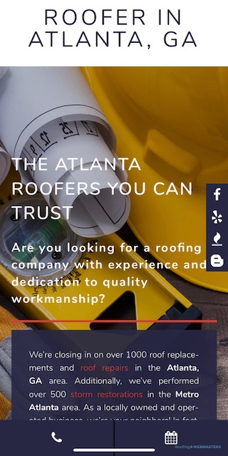 Mobile Roofing Website