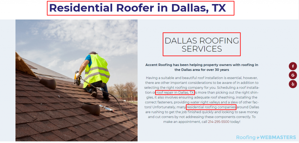On-Page SEO for Roofers
