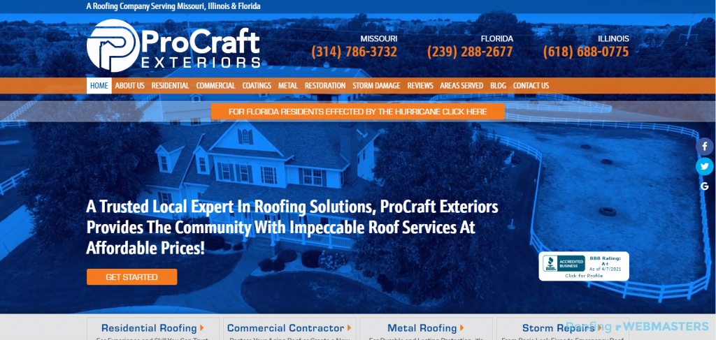 ProCraft Exteriors Website