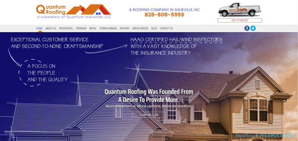 Quantum Roofing Website
