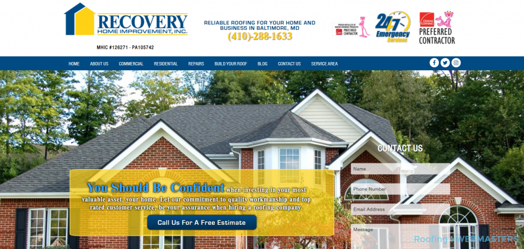 Recovery Home Improvement Website