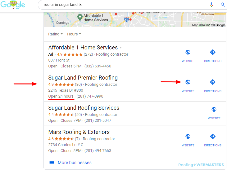 Roofer Local SEO Ranking March 2020
