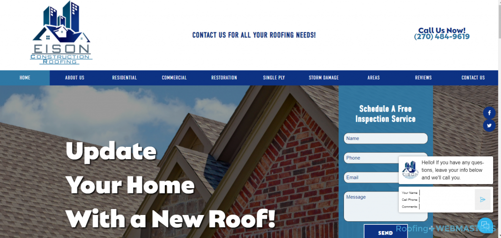 Roofing and Construction Example