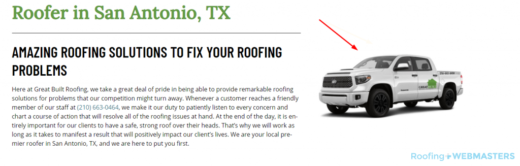 Roofing Brand Example