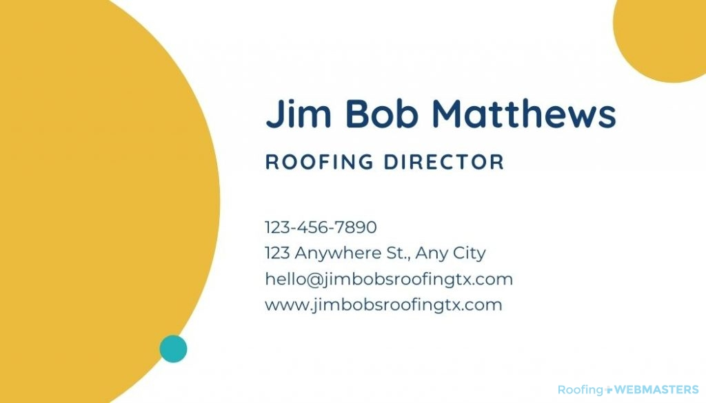 Roofing Business Card Back