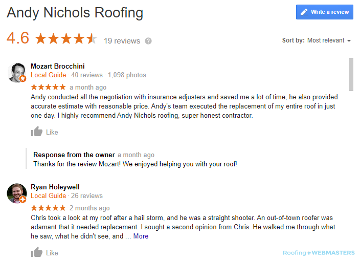 Example of Basic Roofing SEO Changes for Higher Rankings