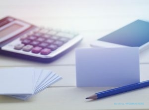 Notecards, Pencil & Calculator Ready For Roofing Company Brand Development