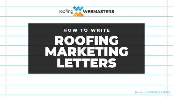 Roofing Company Marketing Letters Banner