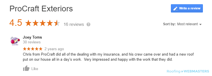 A Former Client Leaves a Glowing Review