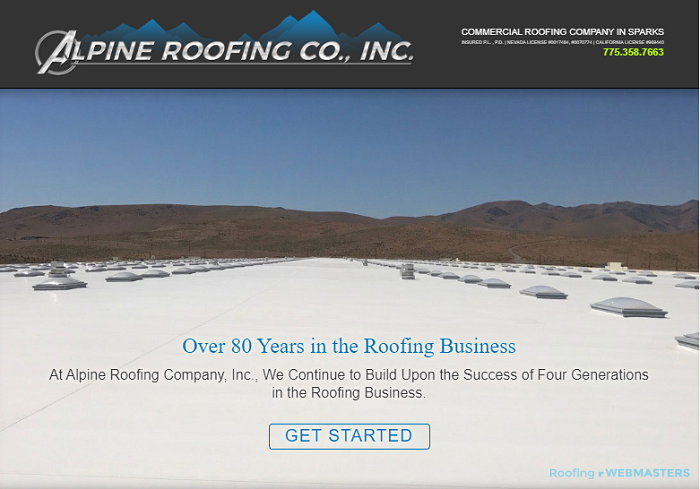 A New Roofing Company Website