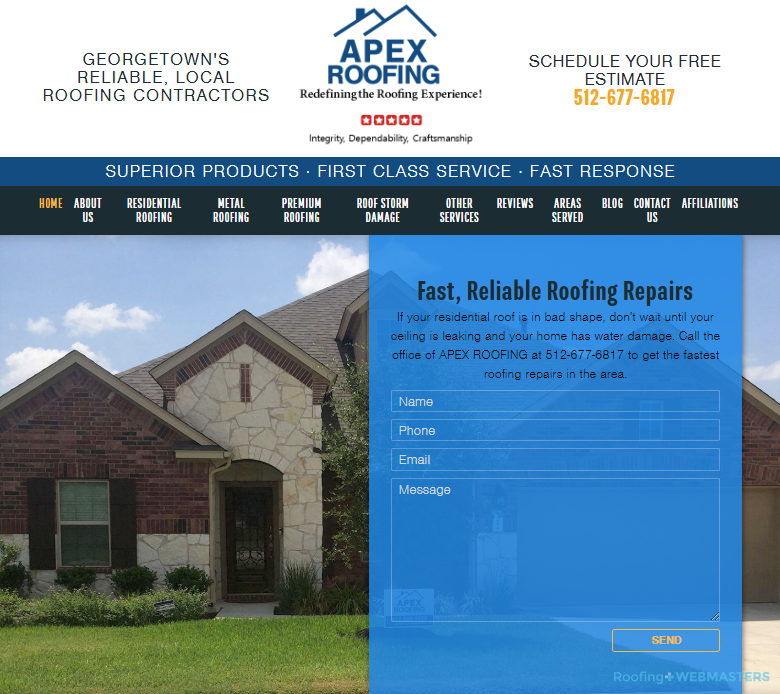 A Roofing Company Website