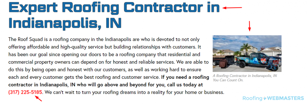 Roofing Content Engagement Screenshot