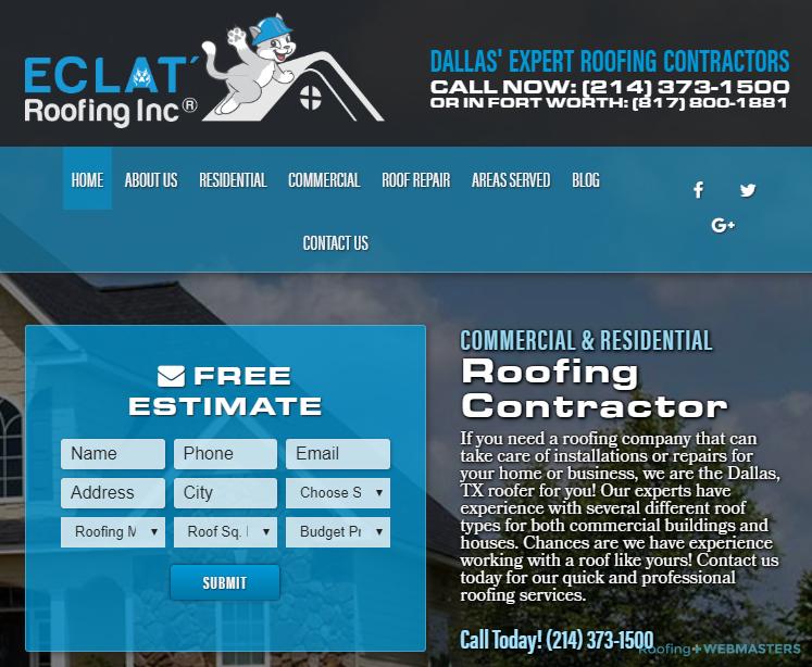 Roofing Contractor Website