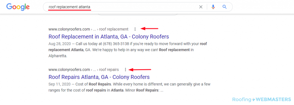 Roofing Google Search Results