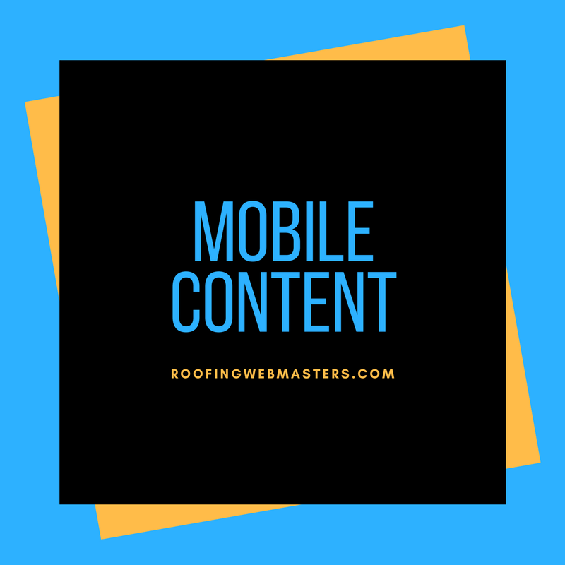 Roofing Mobile Content Graphic