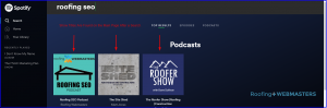 Roofing Podcast Show List