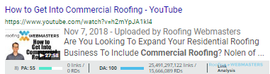 Roofing Video Organic Screenshot