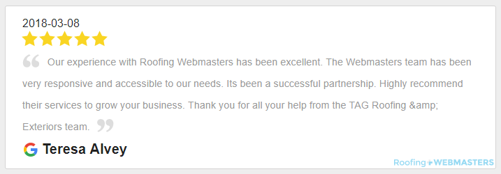 An Example of a Review for Roofing Webmasters
