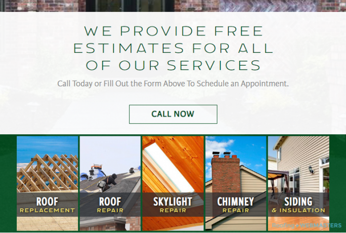 An Example of a Balanced Roofing Website