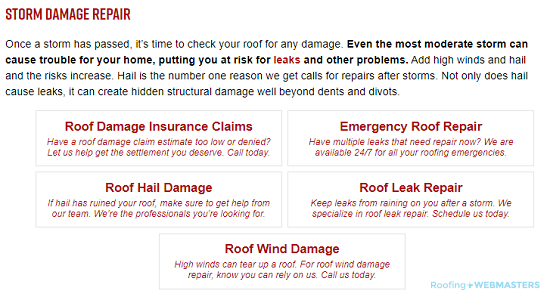 A List for Storm Damage Services