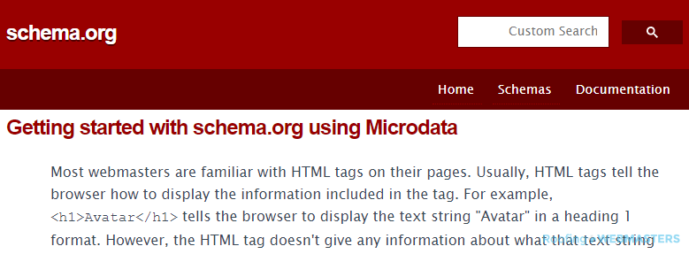 Explaining Schema and Microdata