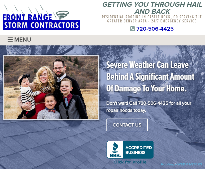 Storm Roofing Contractors and Their Website Homepage