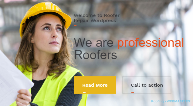 An Example of a Website Template for Roofing SEO