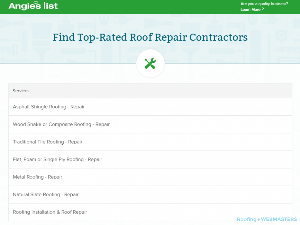 Top Rated Roofers Angie's List